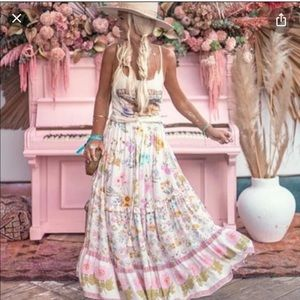 🌿 Sold Spell And The Gypsy wild bloom maxi Skirt